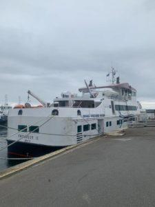Intervention de régulation de vitesse à bord d'un navire