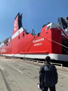Intervention à bord du navire Corsica Linea