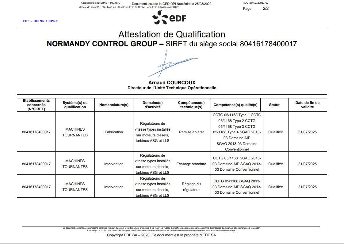 EDF UTO ACCREDITATION